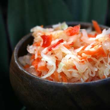 carrot bell pepper sauerkraut